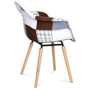 Jedálenská Stolička Stela 1 - farby dubu/viacfarebné, Moderný, drevo/textil (72/83/61cm)