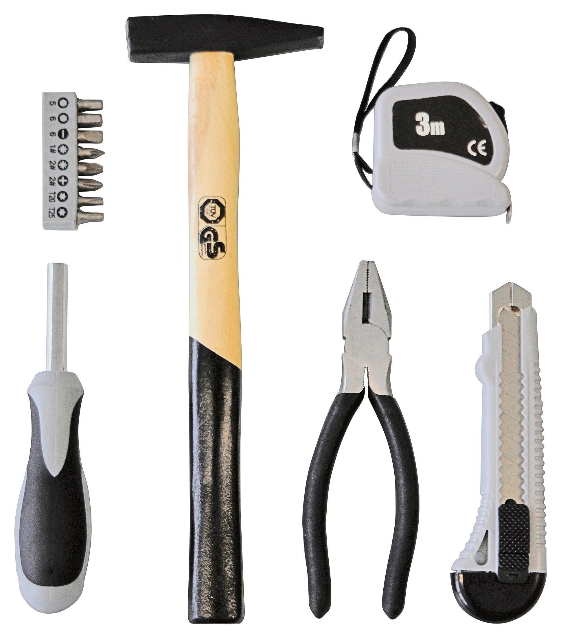 Szerszám Szett Marcel - fekete/szürke, konvencionális, műanyag/fa