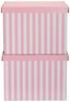 Box S Krytom Jimmy - biela/ružová, kartón (42/32/32cm) - Mömax modern living