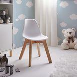 Stolička Julie - biela/farby buku, Moderný, drevo/plast (30,5/56,5/39,5cm) - Mömax modern living