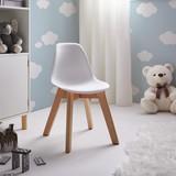 Stolička Julie - biela/farby buku, Moderný, umelá hmota/drevo (30,5/56,5/39,5cm) - Mömax modern living