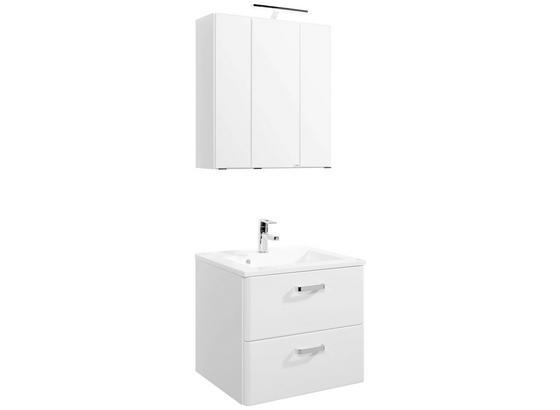 Badezimmer Phönix 60 cm Weiß - Weiß, MODERN, Holzwerkstoff (60/54cm)