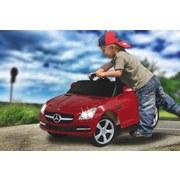 Kinderauto Ride-On Mercedes Slk Rot - Rot/Silberfarben, Basics, Kunststoff (110,5/63/44cm)