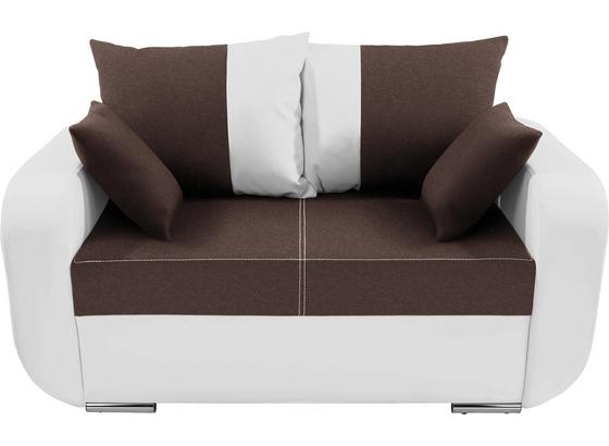 Zweisitzer-Sofa Faro - Chromfarben/Schwarz, KONVENTIONELL, Holz/Textil (150/90/92cm)