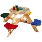 Kindersitzgruppe Plum - Blau/Gelb, MODERN, Holz (120/120/50cm)
