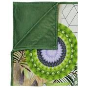 Kuscheldecke Bodhini - Multicolor/Grün, Textil (130/160cm)