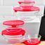 Vorratsgläserset Glas, 11-Teilig - Transparent/Rot, Basics, Glas/Kunststoff (1.54kg)
