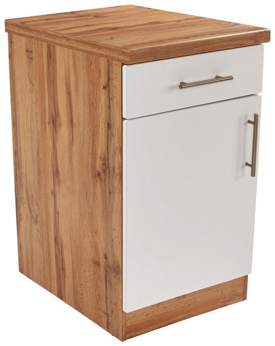 Küchenunterschrank Stella Us50 - Eichefarben/Weiß, Holzwerkstoff (50/86/57cm) - Ombra