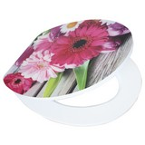 WC-Sitz High Gloss Flowers - Multicolor, MODERN, Holzwerkstoff (37/43,5cm)