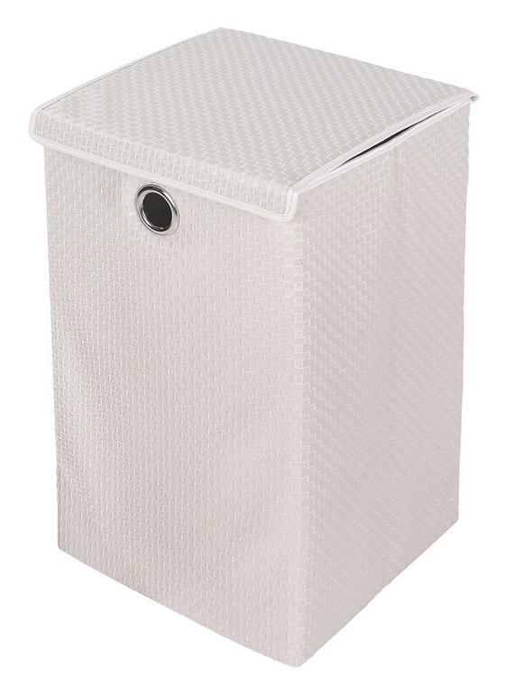 Wäschetonne Dorit - Weiß, KONVENTIONELL, Kunststoff (35/35/59cm) - Ombra