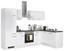 Eckküche Alba 280x170 cm Weiß - Schieferfarben/Weiß, MODERN, Holzwerkstoff (280/170cm)