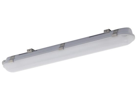 Wand- und Deckenleuchte Studio Ip65, 65cm,18w - Weiß/Grau, MODERN, Kunststoff (65/9/7cm)