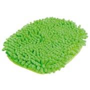 Putzhandschuh mit Chenilleoberfläche - Grün, KONVENTIONELL, Textil (20/28cm) - Ombra