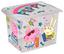 Aufbewahrungsbox Peppa Pig - Transparent, KONVENTIONELL, Kunststoff (39/29/27cm) - Disney