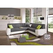 Wohnlandschaft Miami - Alufarben/Weiß, MODERN, Holz/Kunststoff (260/210cm)