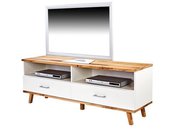 TV-Element Rivoli Weiß/eiche Wotan B/H: 160/55cm - Eichefarben/Weiß, MODERN, Holzwerkstoff (160/55/40cm)