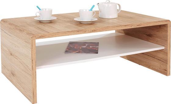 KONFERENČNÝ STOLÍK CALA LUNA - farby dubu/biela, Moderný, drevený materiál (100/40/59cm)