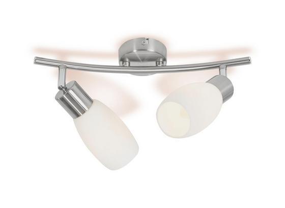 Deckenspot Brigitte - Nickelfarben, KONVENTIONELL, Glas/Metall (36/8/25,2cm) - Ombra