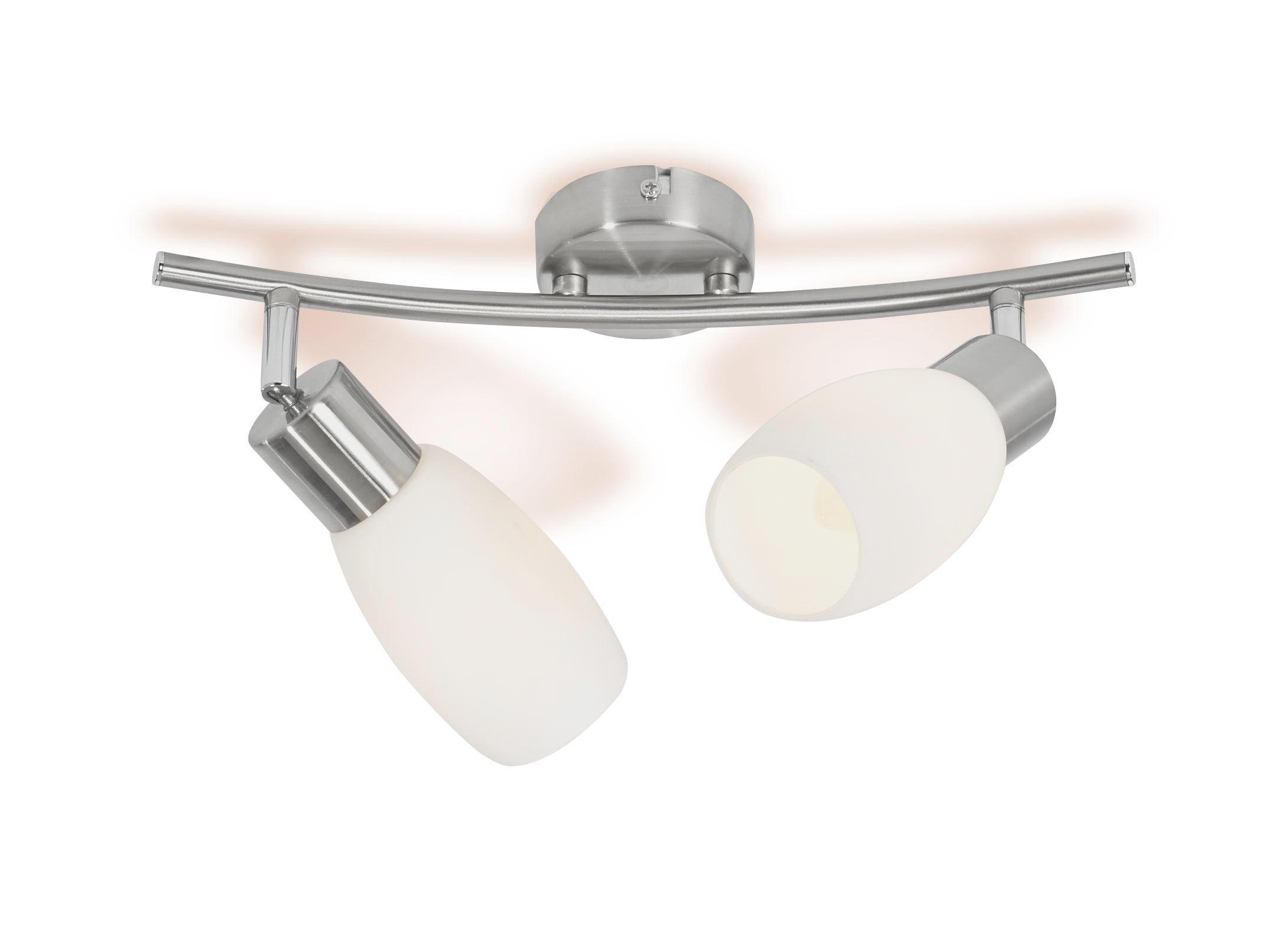 Spotlámpa Brigitte - nikkel színű, konvencionális, üveg/fém (36/8/25,2cm) - OMBRA