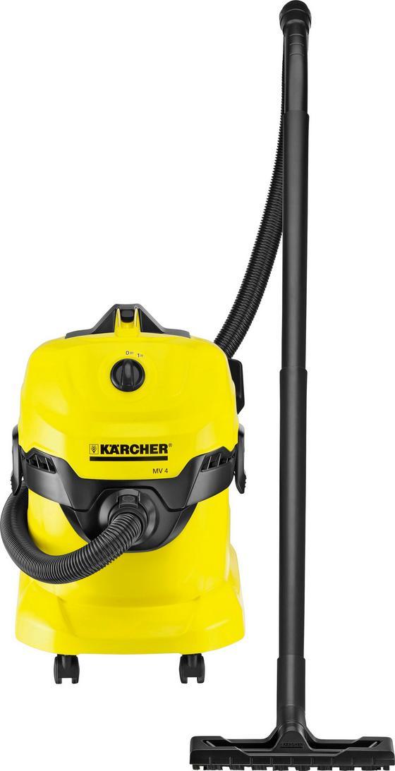 Kärcher Mehrzwecksauger WD4 - Gelb/Schwarz, Kunststoff (38,4/36,5/52,6cm) - Kärcher