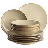 Tafelservice Ossia 12-Tlg - Sandfarben, Basics, Keramik