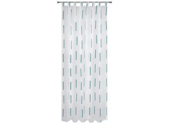 Kombivorhang Alexa - Türkis, MODERN, Textil (140/255cm) - Luca Bessoni