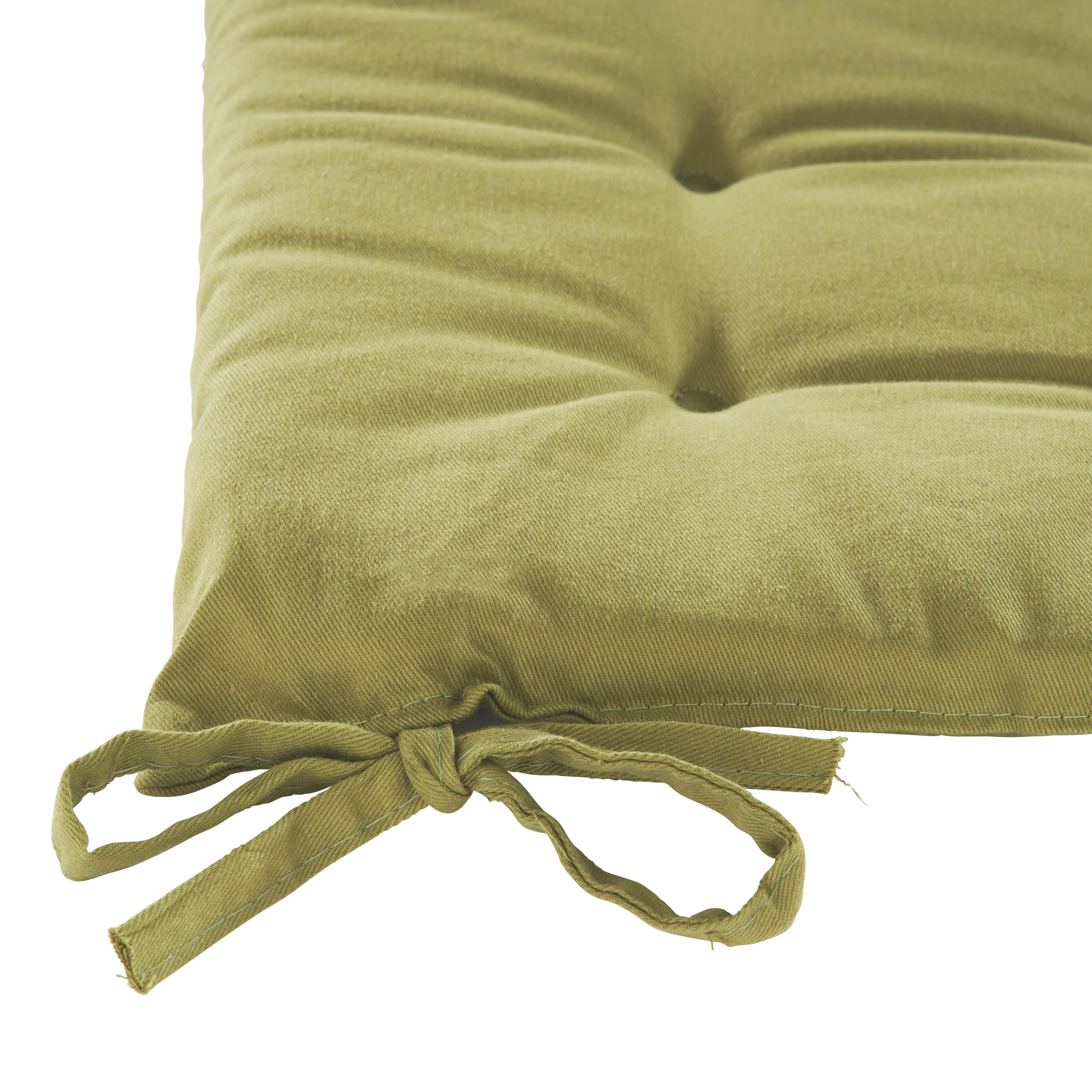 Sedák Lola -based- - zelená, textil (40/40/2cm) - BASED
