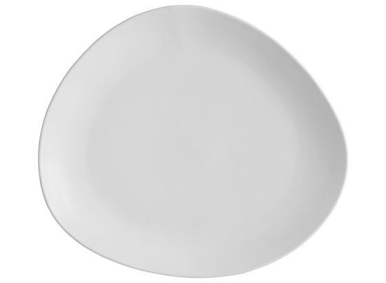 Plytký Tanier Nele - biela, Moderný, keramika (29,5/26/3cm) - Premium Living