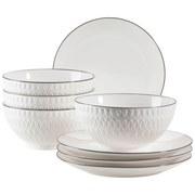 Desserttellerset Telde, 8-Tlg. - Weiß, Basics, Keramik (41,3cm)
