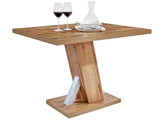 Jedálenský Stôl Severin 110 - farby dubu, Konvenčný, kompozitné drevo (110/76/80cm)
