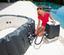Whirlpool Aufblasbar                                     Lay-Z-Spa Hawaii Hydrojet 180x180x71 cm - Dunkelgrau, Kunststoff (180/180/71cm) - Bestway