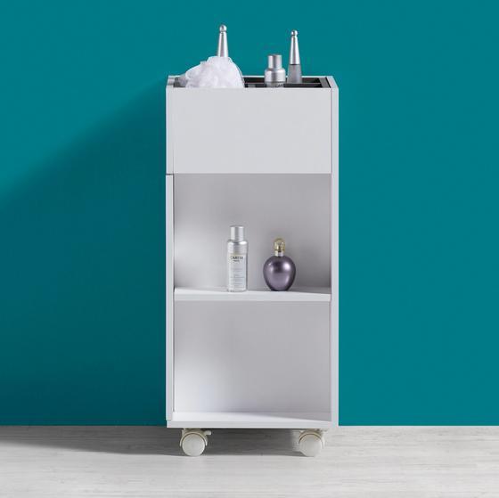 Regál Do Koupelny Bianco - bílá/šedá, Moderní, umělá hmota (30,6/66/30cm) - Mömax modern living