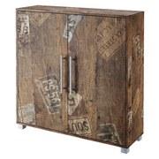 Schuhschrank Pisa B: 103,3 cm Eichefarben - Eichefarben/Silberfarben, Basics, Holzwerkstoff (103,3/104,6/33cm) - MID.YOU