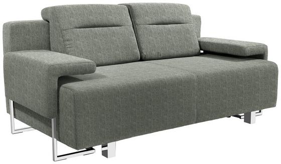 Schlafsofa Memphis - Chromfarben/Braun, MODERN, Textil (222/83/90cm)