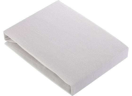 Napínacie Prestieradlo Basic - strieborná, textil (180/200cm) - Mömax modern living