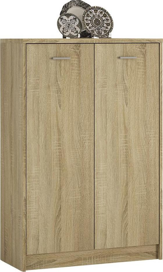 Komoda 4-you Yuk07 - barvy dubu, Moderní, dřevěný materiál (74/111.4/35.2cm)
