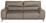 Dreisitzer-sofa Frisco - Sandfarben/Chromfarben, MODERN, Textil (210/92/96cm)