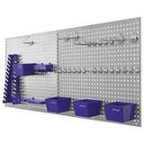 Werkzeugwand 34tlg 06601 - Blau/Grau, MODERN, Kunststoff/Metall (56/46/7,5cm) - Erba