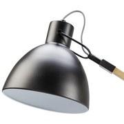 Stojaca Lampa Nerea - prírodné farby/čierna, Moderný, kov/drevo (87/22/150cm) - MODERN LIVING
