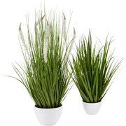 Trs Trávy Iris - zelená, Romantický / Vidiecky, umelá hmota (79cm)
