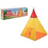 Spielzelt Tipi B: 100 cm Orange Rot - Gelb/Rot, Basics, Textil (100/135/100cm)