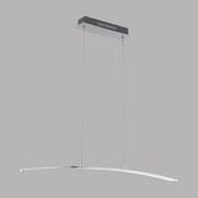 LED-hängeleuchte Flagranera - Weiß/Nickelfarben, MODERN, Kunststoff/Metall (100/8/110cm)
