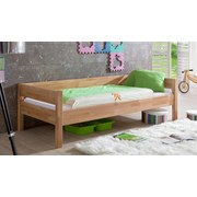 Kinder-/Juniorbett Nik 90x200 cm Buche Massiv - Naturfarben, Design, Holz (90/200cm)