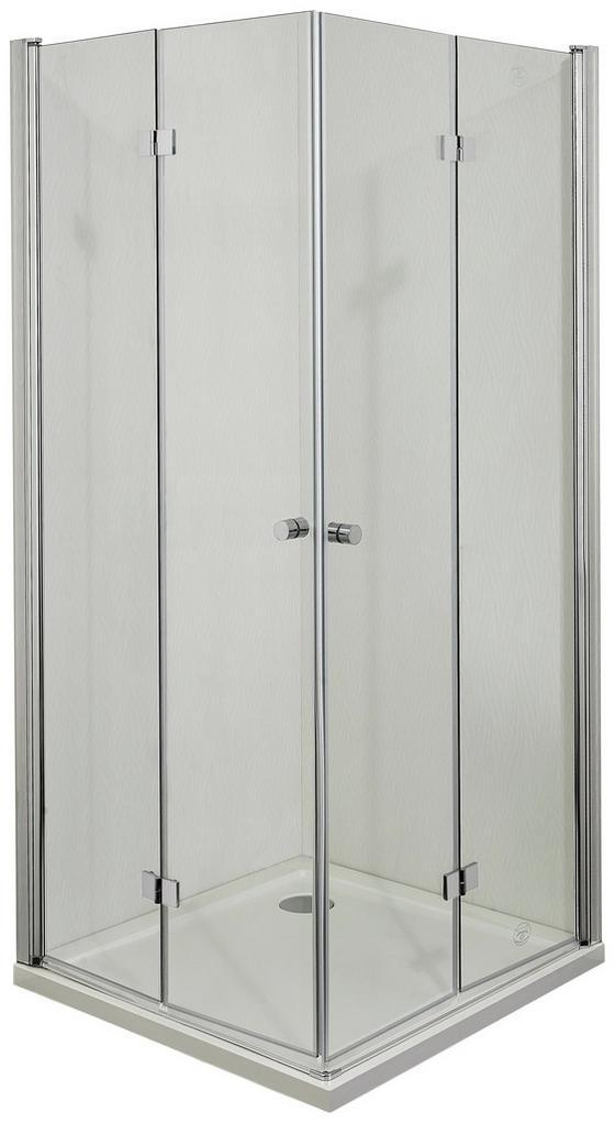 Eckeinstieg Smartflex - Chromfarben, KONVENTIONELL, Glas/Metall (90/195cm)