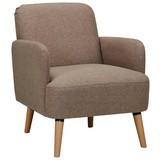Relaxační Křeslo Stockholm - hnědá, Lifestyle, dřevo/textilie (62/79/77cm) - Ombra