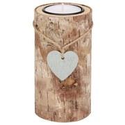 Teelichthalter H:11 cm - Kieferfarben, MODERN, Holz (6,5/11cm)