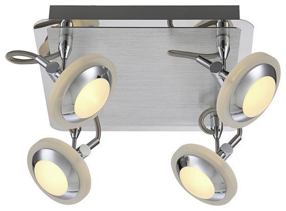 LED-Deckenleuchte Emil - Chromfarben, MODERN, Kunststoff/Metall (25/25/16cm)