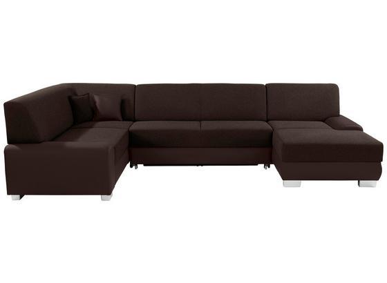 Sedacia Súprava Miami - hnedá/tmavohnedá, Moderný, drevo/textil (210/320/160cm)