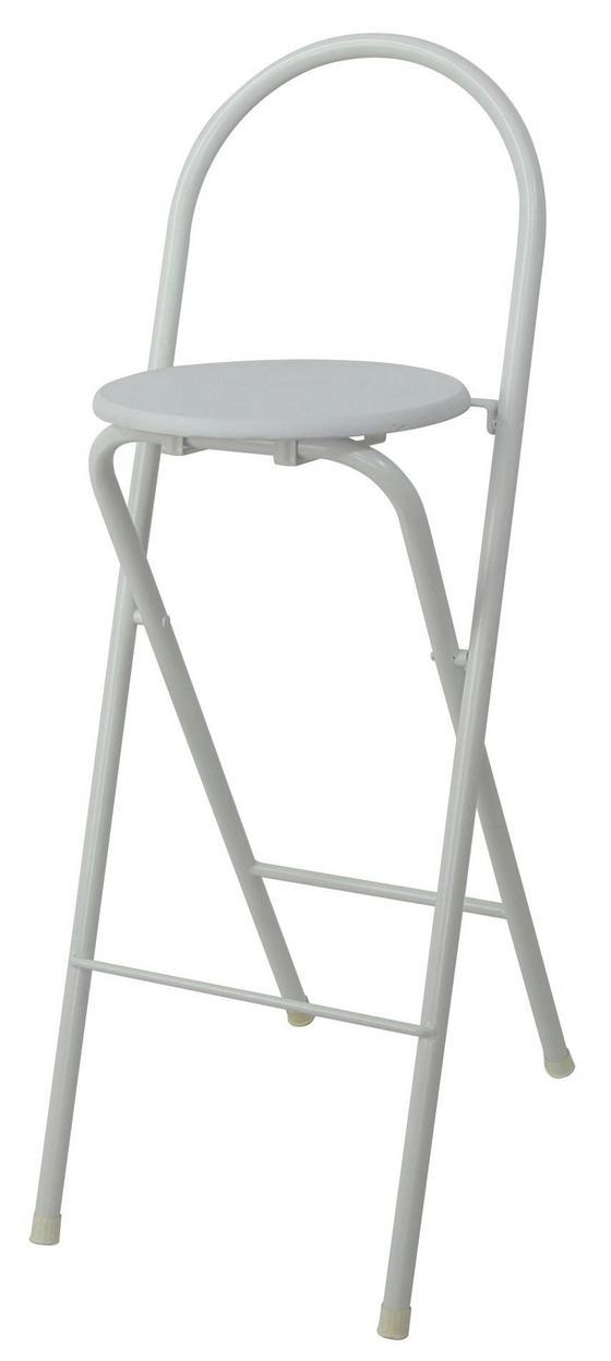 Klappstuhl Liane - Weiß, MODERN, Holzwerkstoff/Kunststoff (38/100/47cm)