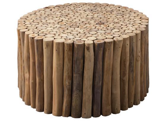 Couchtisch D: ca. 80 cm Naturfarben - Naturfarben, Basics, Holz (80/40cm)